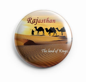 Rajasthan The Land of Kings 58mm Badge R8002028