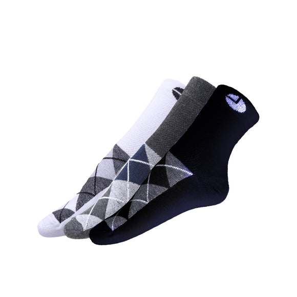AVI White Grey and Blue socks with checks with checks C3R1000031