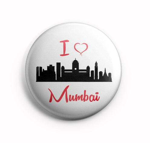 AVI Badge  I Love Mumbai India Badge 58mm R8002038