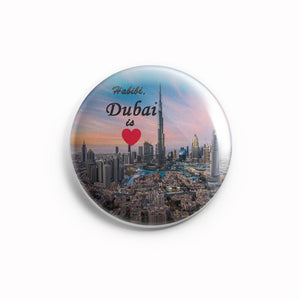 AVI Habibi, Dubai is Love Fridge Magnet  Regular Size 58mm MR8002055