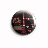 AVI 58mm Badge Black Tokyo Travel Souvenir  Regular size R8002056