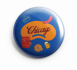 AVI Blue Fridge Magnet Chicago Regular Size 58mm MR8002057
