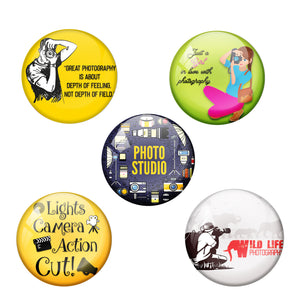 Photography Combo Pack of 5 Badges