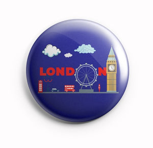 AVI London Souvenir Badge 58mm R8002075