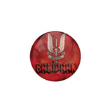 AVI Metal Red Colour Pin Badges With Balidaan Red Design