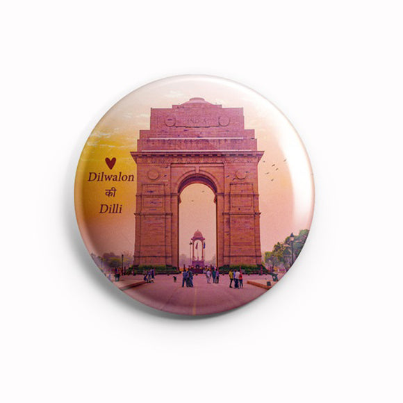 AVI 58mm Regular Size Fridge Magnet Dilwalon ki Dilli (Delhi India) MR8002121