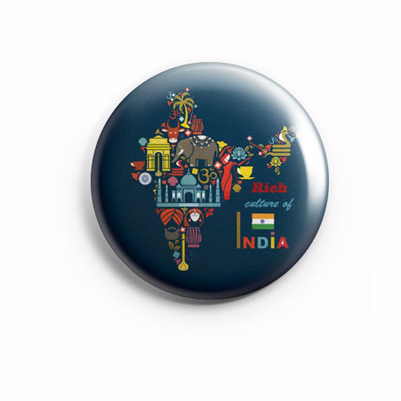 AVI 58mm Fridge Magnet Regular Size Blue Rich Culture of India MR8002126
