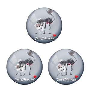 AVI Metal Multi Colour Fridge Magnet With Just married Couple 4 Photographer Design