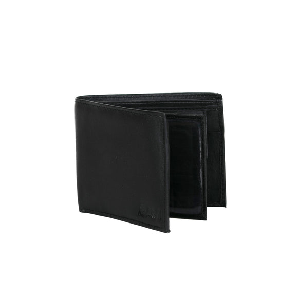 AVI Mens Classic Handcrafted Black Leather Wallet