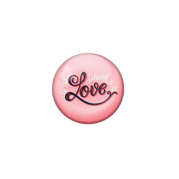 AVI Pink Metal Pin Badges with Positive Quotes Spread love Design