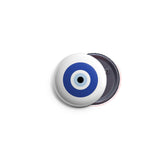 AVI 58mm Fridge Magnet Regular Size White Fortunate Evil Eye Symbol MR8002194