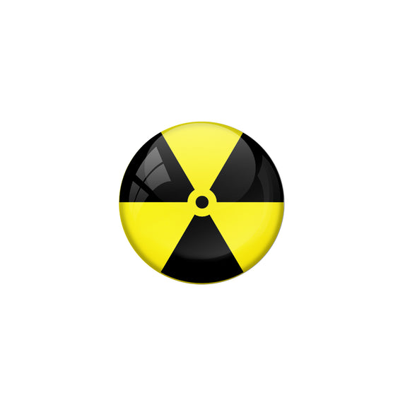 AVI Pin Badges with Yellow Radiation hazard Quote Deisgn Pack of 1