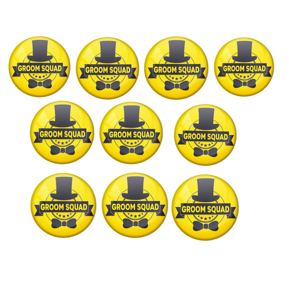 AVI Metal Yellow Colour Fridge Magnet With Groom Squad Design