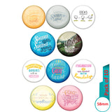 AVI Multi Colour Metal  Pin Badges  with Pack of 10 Happy Positive quotes PQ 56 Design