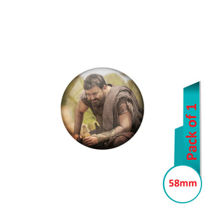 AVI Pin Badges with Multi Mohanlal ithikkarapakki Quote Design Pack of 1
