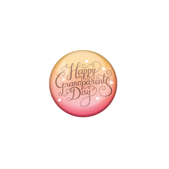 AVI Pink Metal Pin Badges with Positive Quotes Happy Grand parents day Design