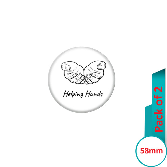 AVI Pin Badges with Multi Registered am unique no more copies available Quote Design Pack of 2
