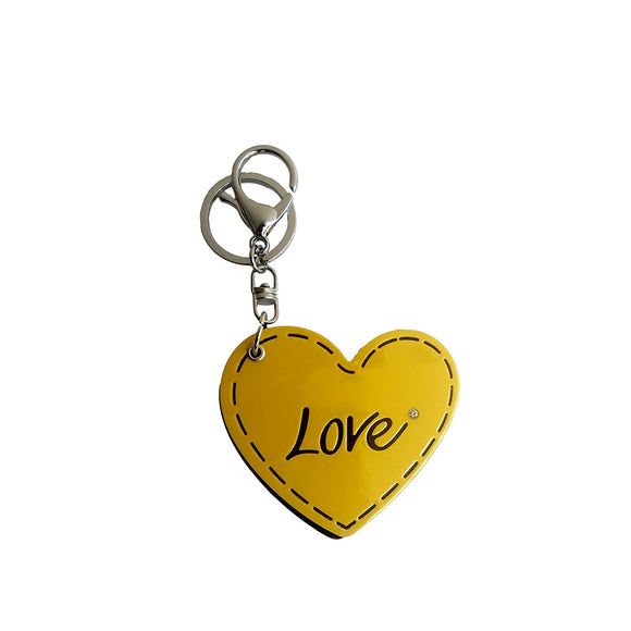 AVI Techpro Multicolour Valentines'day Love Couples Gift Keychain with Sliding Mirror