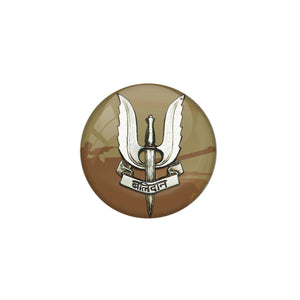 AVI Metal Green Colour Pin Badges With Balidaan Army colour Design