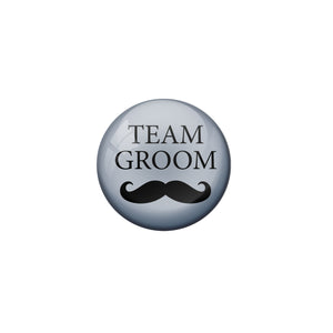 AVI Metal Grey Colour Fridge Magnet With Team Groom Grey Design