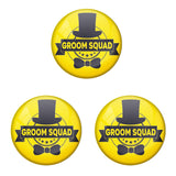 AVI Metal Yellow Colour Fridge Magnet With Groom Squad Yellow Design