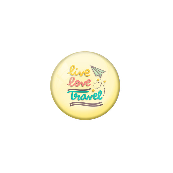 AVI Yellow Metal Pin Badges with Positive Quotes Live love travel Design