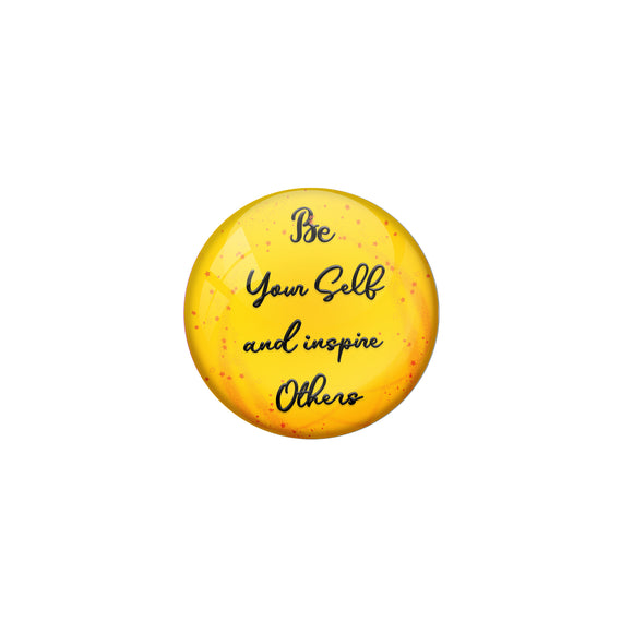 AVI Pin Badges with Yellow Be yourself and inspire others Quote Deisgn Pack of 1