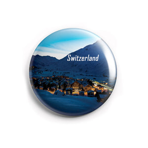 AVI 58mm Regular Size Fridge Magnet Blue Switzerland Nights Love Europe Travel Souvenir MR8002211