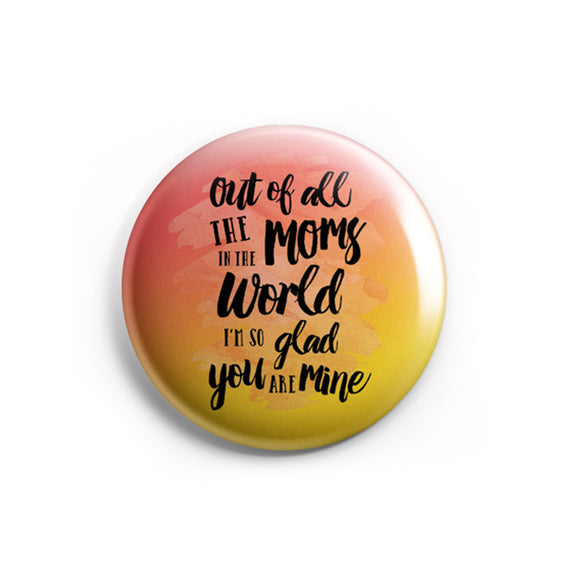 AVI Pin Badge Multicolor Mom love for Mothers day Family Quotes R8002222
