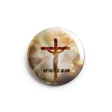 AVI 58mm Fridge Magnet Brown My Faith is in you Lord Jesus Christ Quote Regular Size MR8002233