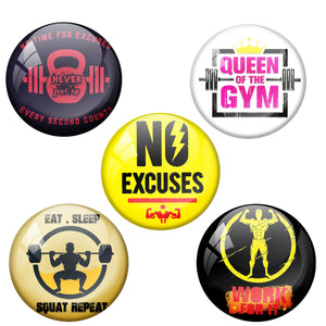 Gym Badge Combo Pack of 5 Badges