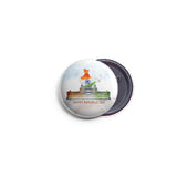 AVI 58mm Regular Size Pin Badge Indian Republic Day with India map design R8002296