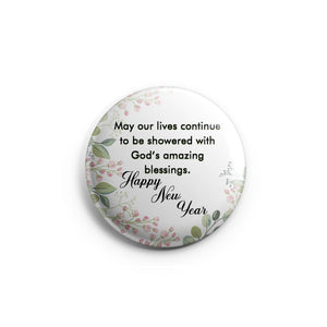 AVI 58mm Fridge Magnet White New Year wishes Quote Regular Size MR8002301