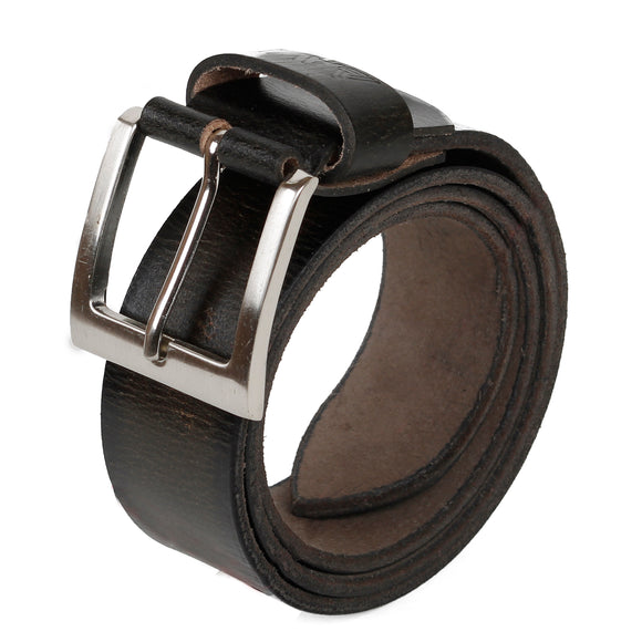 AVI Mens Classic Handcrafted Black shaded Leather Belt