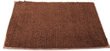 Attractive button design Brown doormat with anti-slip back