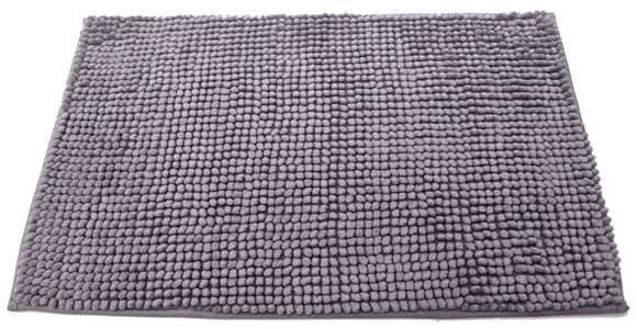 Attractive button design Grey doormat with anti-slip back