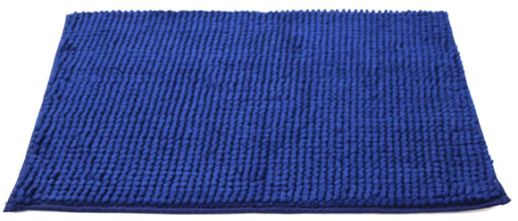 Attractive button design Blue doormat with anti-slip back