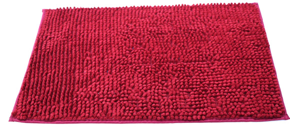 Attractive button design Maroon doormat with anti-slip back