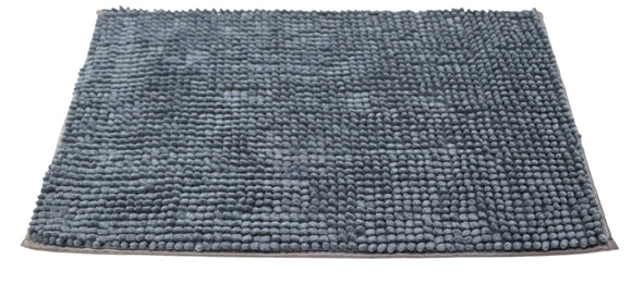 Attractive button design Bluish Green doormat with anti-slip back
