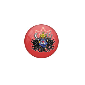 AVI Badge with Red Colour Durga Design Regular Size 58mm R8000189