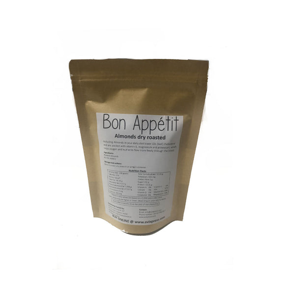 AVI Bon Appétit Dry Roasted & slightly salted Almonds 500 grams