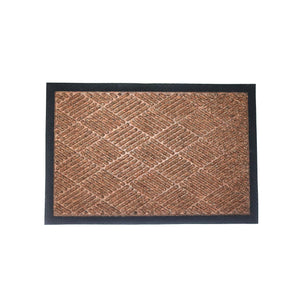 AVI Coir Door Mat With Black Border And Strip Diamond Design