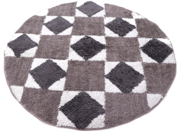 Circular Fabric Doormat Grey 32.5 inches dia