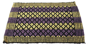 Black Violet yellow fabric doormat (23 x15 inches)  FFM00027
