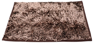 Fabric  doormat 22 x 15inches Brown