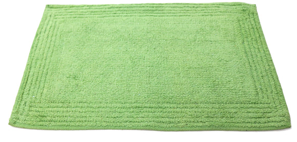 Green plain fabric doormats 24x16 inches medium size Green plain fabric doormat FFM00052