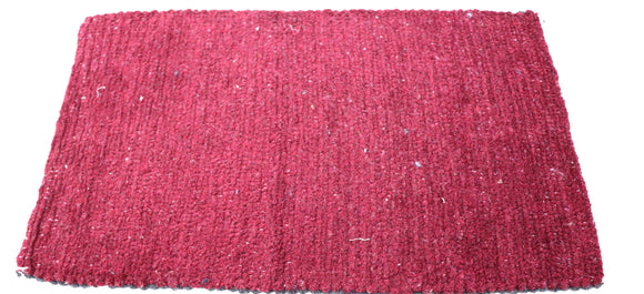 Maroon and grey Reversible dual color doormat (27 x16 inches) FFM00041