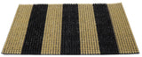 Nylon doormat 23x16 inches dual color stripes