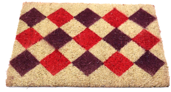 Small printed coir doormats with PVC back