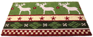 Big Coir doormat with PVC back Christmas theme 30x18 inches